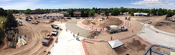 Pershing Blvd construction Panorama photo