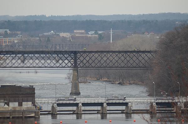 Scenic view of area around bridge