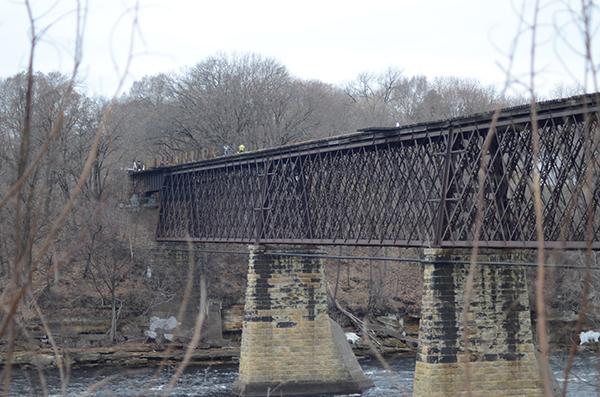 Former railroad bridge being renovated