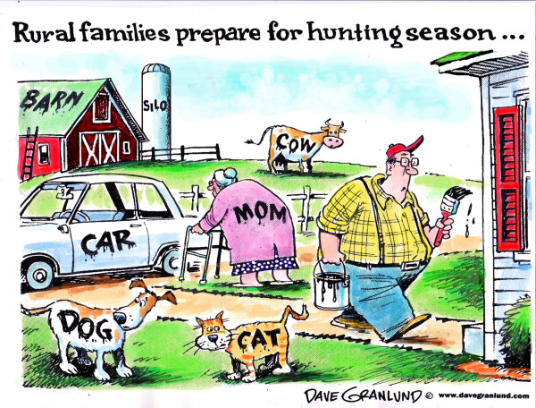 Hunting season cartoon