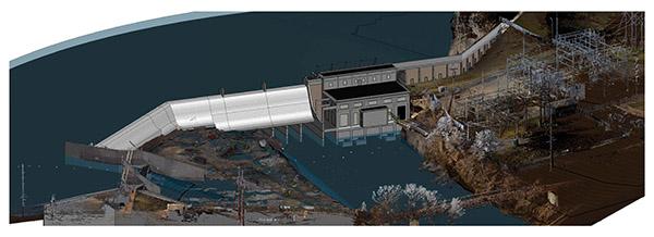 Revit model of Byllesby Dam
