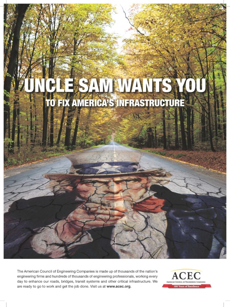 ACEC Uncle Sam for Infrastructure Ad