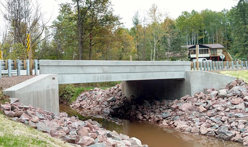 Bridge along CTH E in Wisconsin.