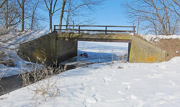 Replacement of the Elm Drive bridge in Rock County, Wisconsin.