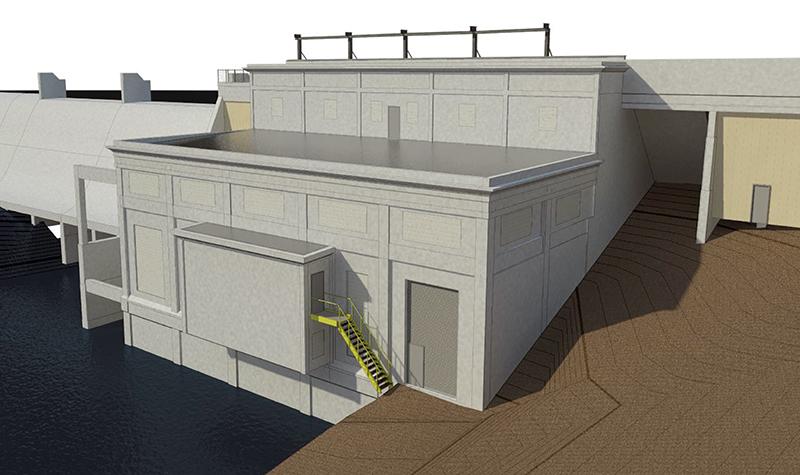 Byllesby Dam BIM rendering.