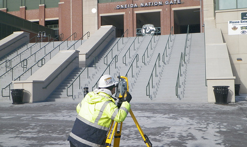 Survey at Lambeau Field in Ashwaubenon, Wisconsin