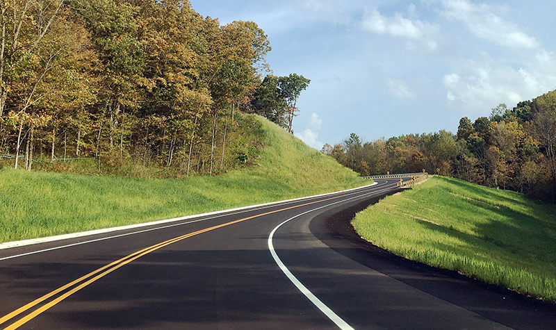 newly paved road