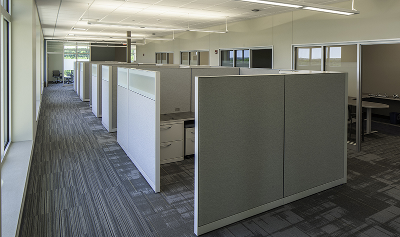 Example of office cubicles