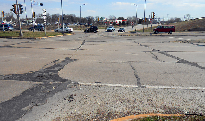 Example photo of road that needs repair