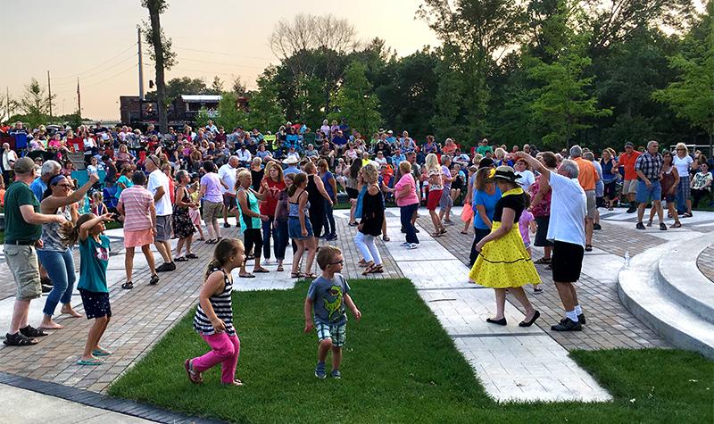 Outdoor community event.